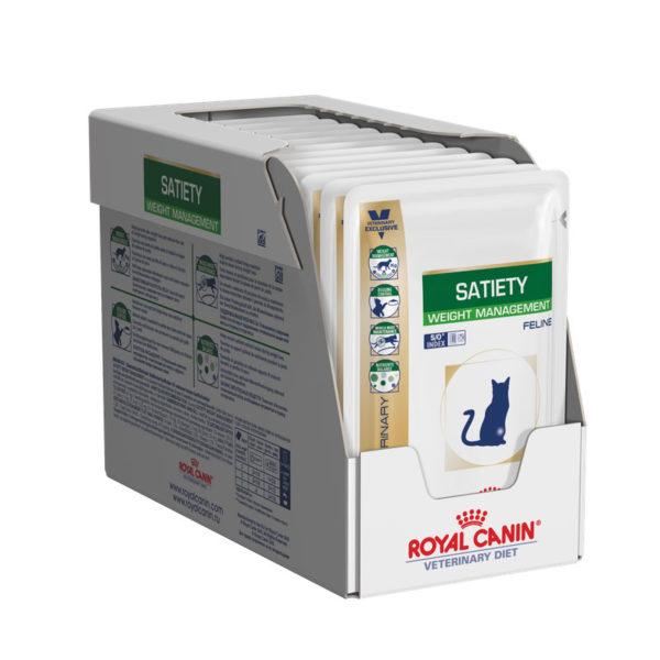 Royal Canin Vet Diet Feline Satiety Weight Management 85g x 12 Pouches 1