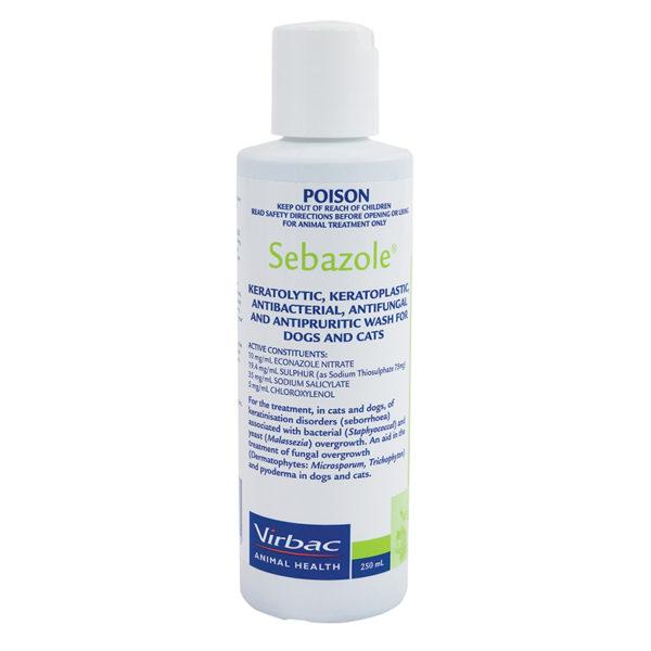 Sebazole Antibacterial Shampoo 250ml 1