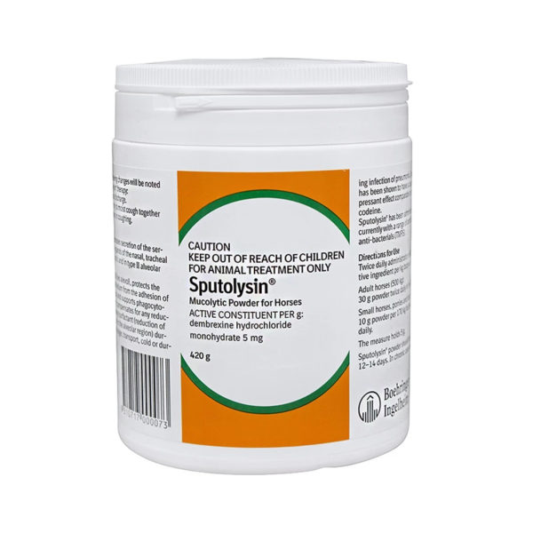 Sputolysin Mucolytic Powder for Horses 420g 1