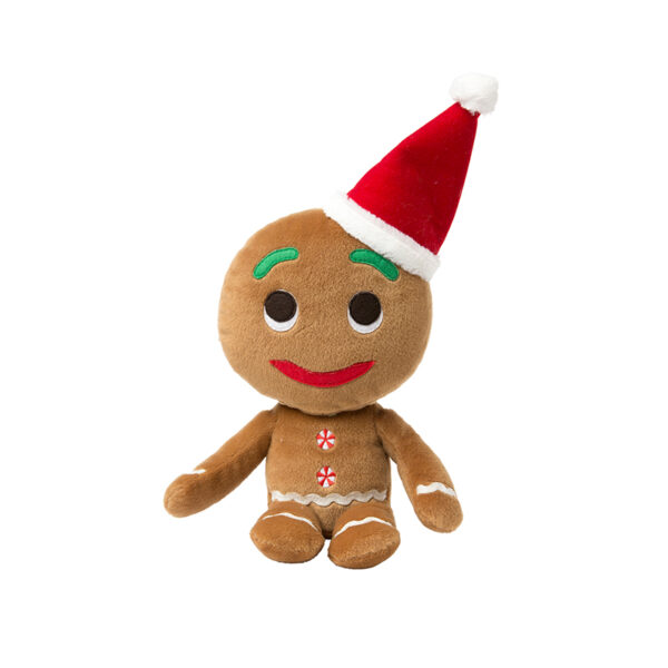 FuzzYard Christmas Gingerbread Man Plush Dog Toy Small 1