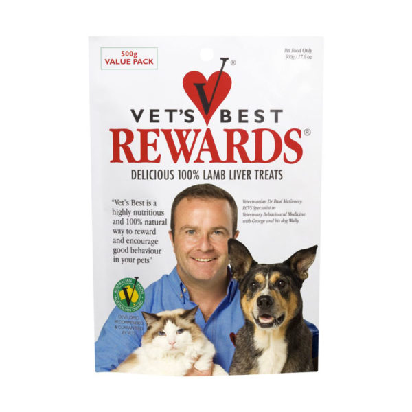 Vet's Best Rewards Lamb Liver Treats 500g 1