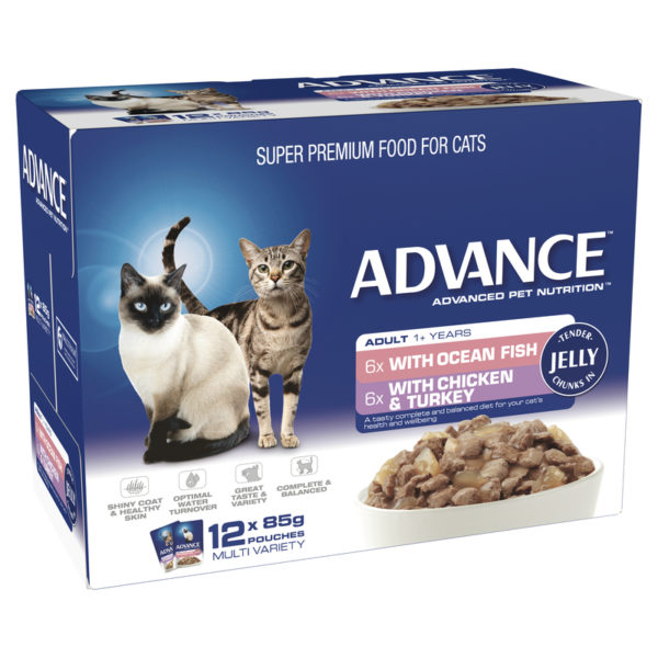 Advance Adult Cat Multi Variety in Jelly 85g x 12 Pouches 1